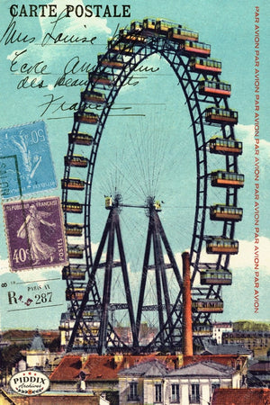 Pdxc9569 -- Travel Postcards Original Collage