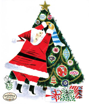 Pdxc9736A -- Santa Claus Color Illustration