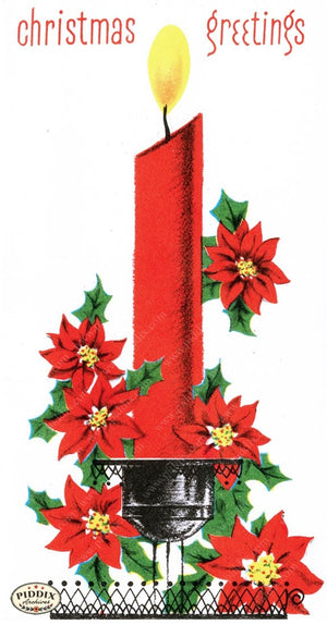 Pdxc9750 -- Christmas Candles Color Illustration