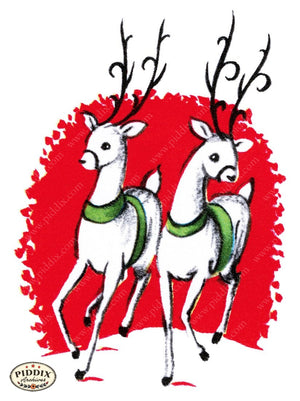 Pdxc9760B -- Christmas Deer Color Illustration