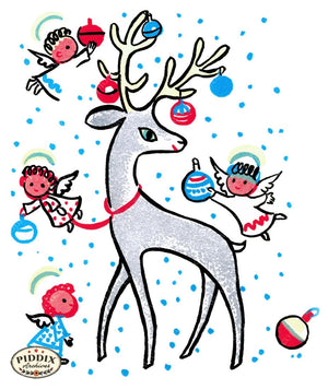 Pdxc9764 -- Christmas Deer Color Illustration