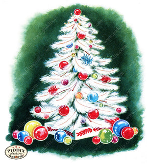 Pdxc9769 -- Christmas Trees Color Illustration
