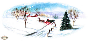 Pdxc9770B -- Snowy Scenes Color Illustration