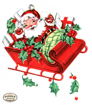 Pdxc9773B -- Santa Claus Color Illustration