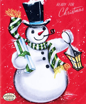 Pdxc9775 A & B -- Snowmen Women Color Illustration