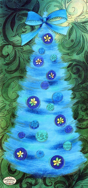 Pdxc9792 -- Christmas Trees Color Illustration