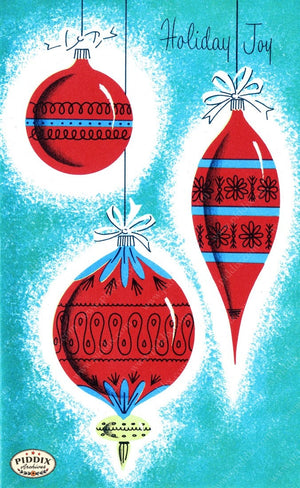 Pdxc9795 -- Christmas Ornaments Color Illustration