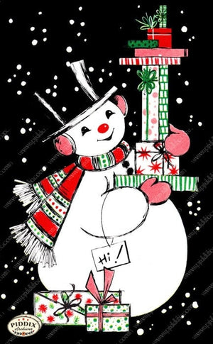 Pdxc9796 A & B -- Snowmen Women Color Illustration