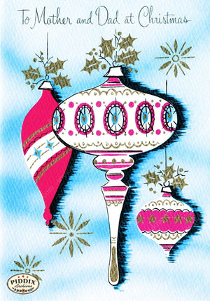 Pdxc9805 -- Christmas Ornaments Color Illustration