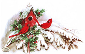 Pdxc9807 -- Christmas Birds Color Illustration
