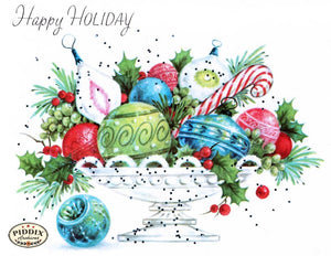 Pdxc9824 -- Christmas Ornaments Color Illustration
