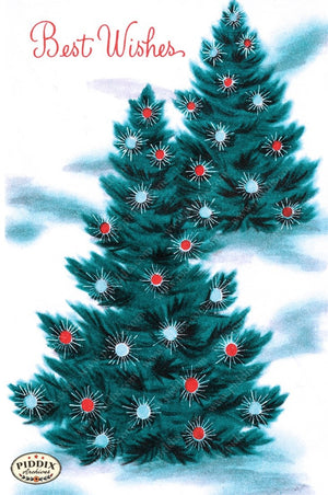 Pdxc9828 -- Christmas Trees Color Illustration