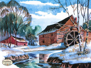 Pdxc9831 -- Snowy Scenes Color Illustration