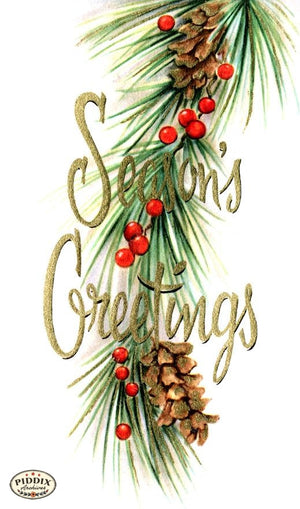 Pdxc9839A -- Christmas Words Color Illustration