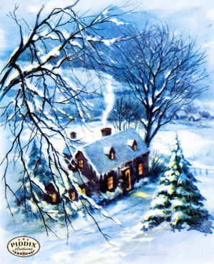 Pdxc9853A -- Snowy Scenes Color Illustration
