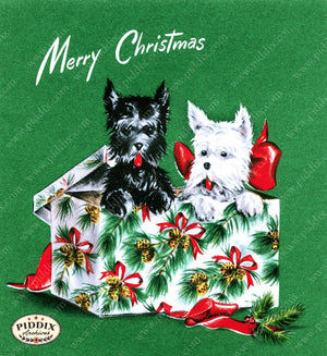 Pdxc9856 -- Christmas Animals Color Illustration