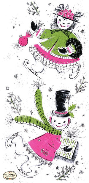 Pdxc9878 -- Snowmen Women Color Illustration