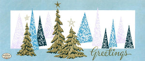 Pdxc9879-- Christmas Trees Color Illustration