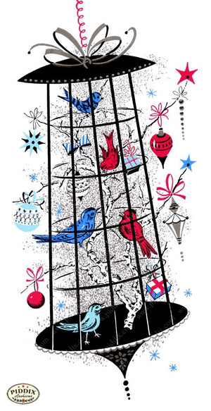 Pdxc9894 -- Christmas Birds Color Illustration