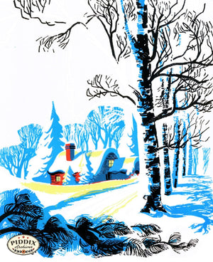 Pdxc9925B -- Snowy Scenes Color Illustration