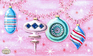 Pdxc9987 -- Christmas Ornaments Color Illustration