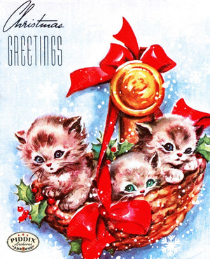Pdxc9997A -- Christmas Cats Color Illustration