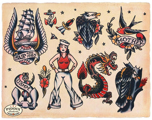 Tattoos Pdxc7767 Color Illustration