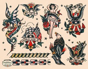 Tattoos Pdxc7772 Color Illustration