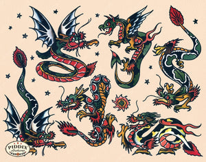 Tattoos Pdxc7773 Color Illustration