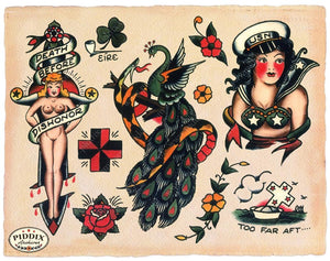 Tattoos Pdxc7779 Color Illustration