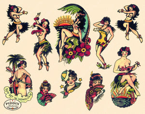 Tattoos Pdxc7784 Color Illustration