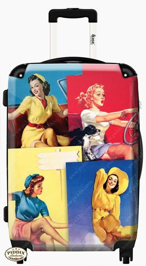 Vintage Pinups Travel Luggage -- Piddix Licensed Products Licensed Piddix Product