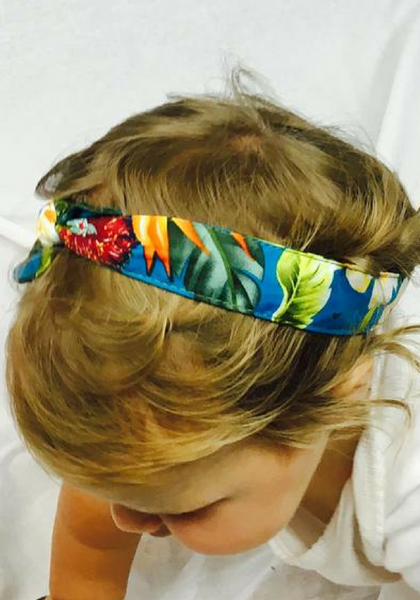 Kids HI Hot-Head Rosie Wrap - Blue Tropics