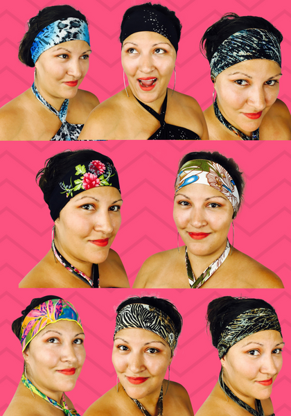 Hawaiian Hot-Head non-slip headbands - Match your Dressed'n-case