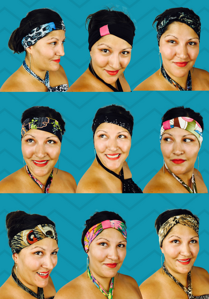 Hawaiian Hot-Head accent headbands - Match your Dressed'n-case