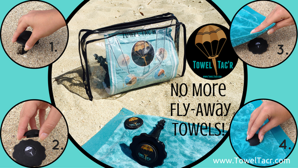 Towel Tac'r- Set of 4 & Vinyl Carry Bag