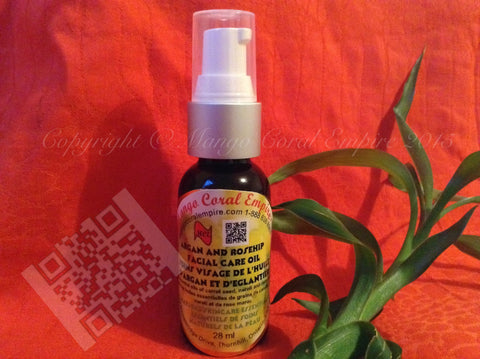 Argan and Rosehip Facial Care Oil - for body/face - Mango Coral Empire Handcrafted natural skincare, natural perfume, natural deodorant, hair and shaving products