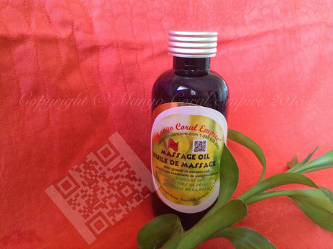 Massage Oil - Grapefruit EO - for body (not for face) - Mango Coral Empire Handcrafted natural skincare, natural perfume, natural deodorant, hair and shaving products