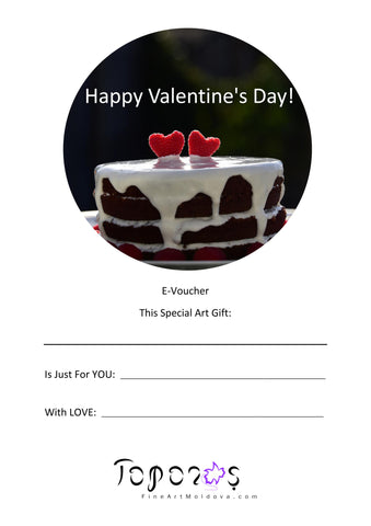 Valentine's Day E-Voucher from fineartmoldova.com