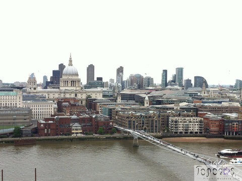 London skyline view from Level 10, Tate Modern, fineartmoldova, Toporas Online Art Gallery