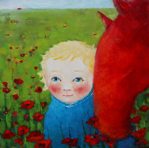 Me, You and the Poppy Field by Cezara Kolesnik
