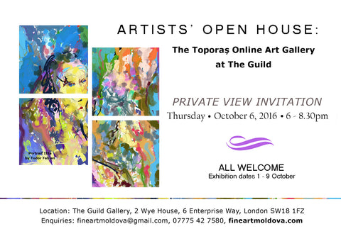 Artists Open House Toporas Online Art Gallery at The Guild Private Invitation