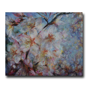 Original painting Cherry Flowers by Veronica Iftodii on fineartmoldova.com
