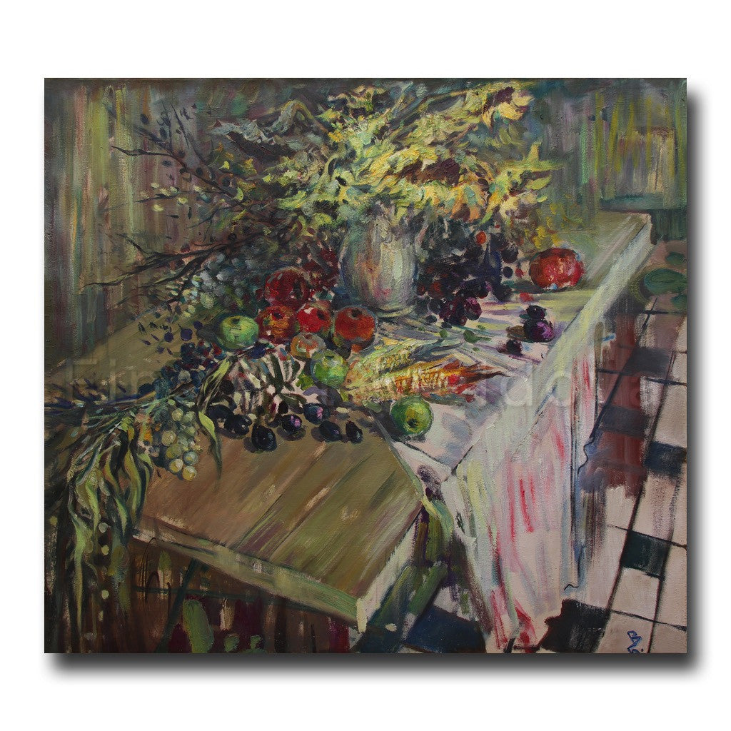 Original painting entitled Cimişlia Still Life by Vyacheslav Bakitsky