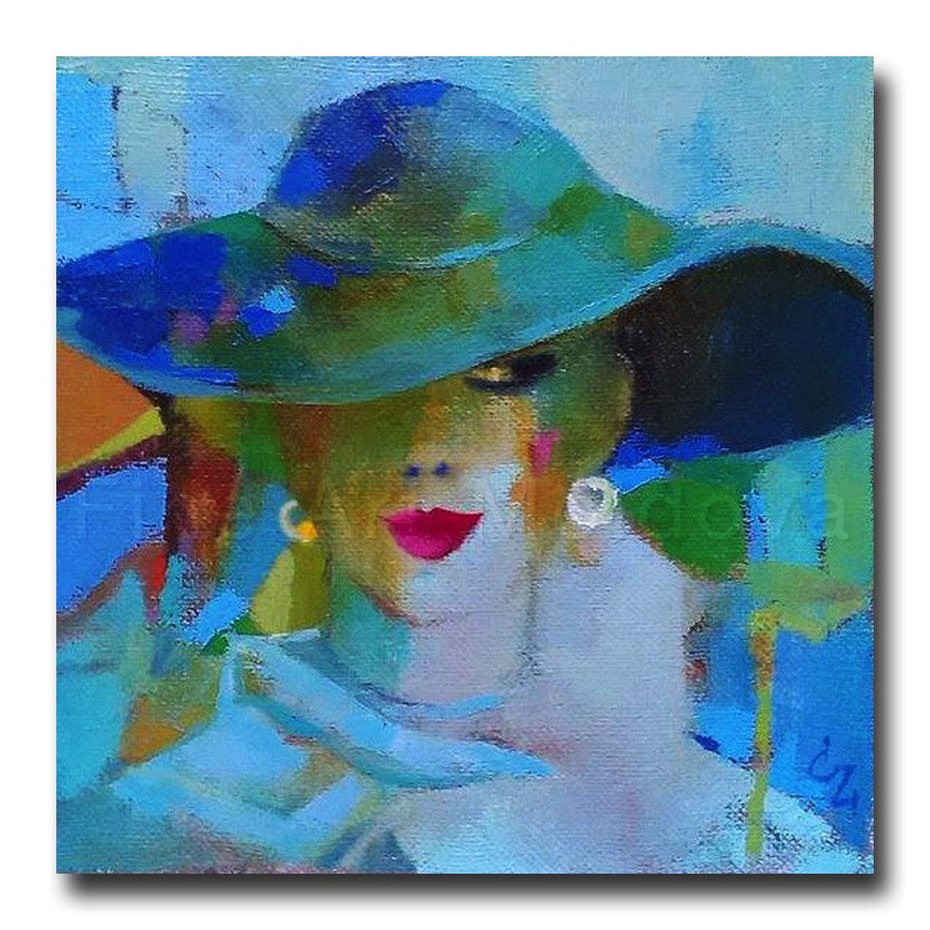 Blue Hat by Victoria Cozmolici