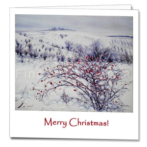 Cover of the Christmas Card featuring Robert Ixari's painting Frost