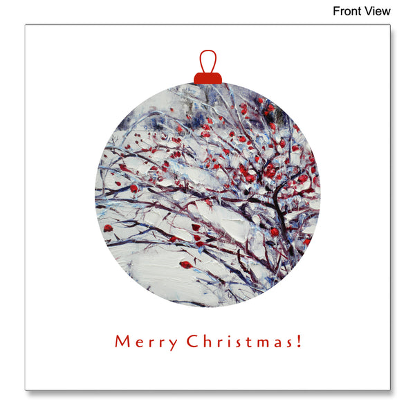 Front view of the Christmas Card Frost by Robert Ixari