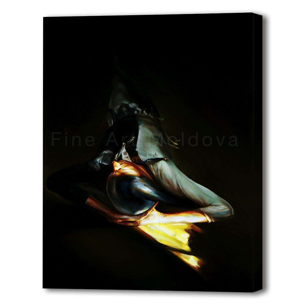 Canvas Print entitled Harlequin (5 of 5, medium size) by Robert Ixari