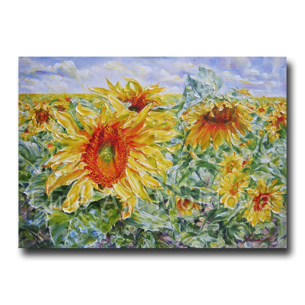 Sunflower by Robert Ixari on fineartmoldova.com