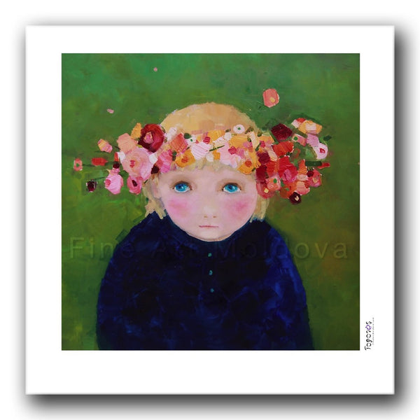 Fine art print titled Summer Day by Moldovan artist Cezara Kolesnik